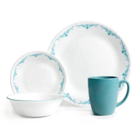 Corelle Livingware 32-Piece Dinnerware Set Garden LaceTwo 16 Piece Set