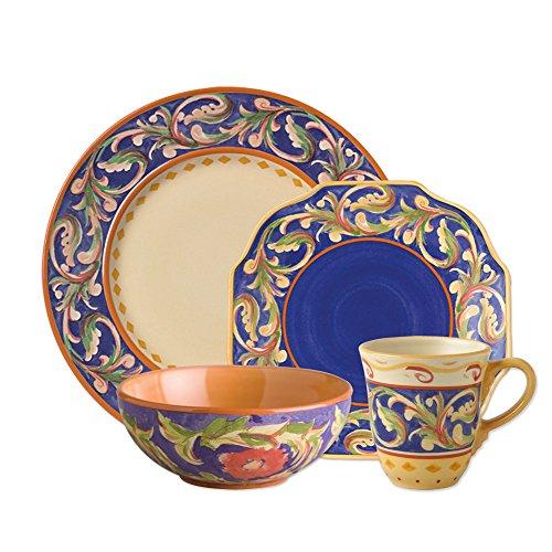 Pfaltzgraff Villa Della Luna Blue 32 Piece Dinnerware Set Service for 8