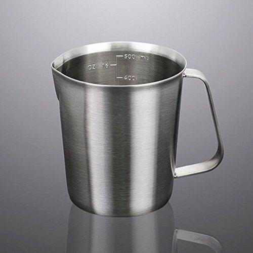 Milk PitcherStainless Steel Milk Cup Milk Frothing Pitcher Measuring Cup500ML