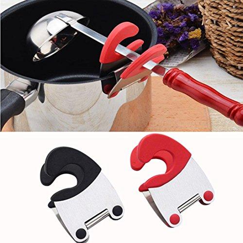 Pot Clip Spoon Holder Sacow 1pcs Stainless Steel Utensil Pot Clip Spoon Rest Soup Pot Fixed Clamprandom