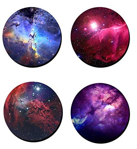 Geek Details Nebula Coaster Set - Neoprene- 4 Piece Set - 35 Diameter
