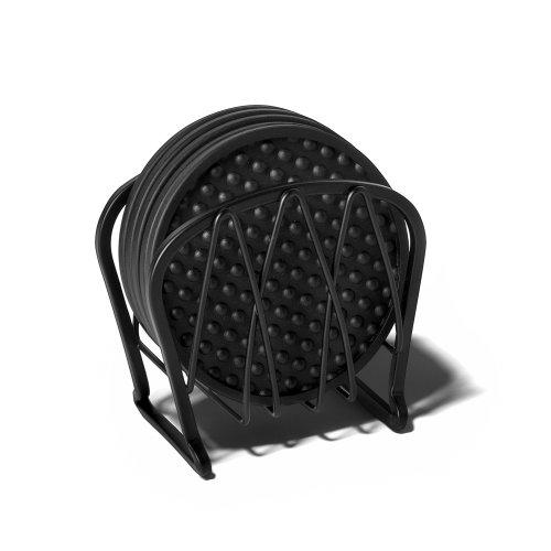 Spectrum Diversified Twist Coasters Set of 6 Black