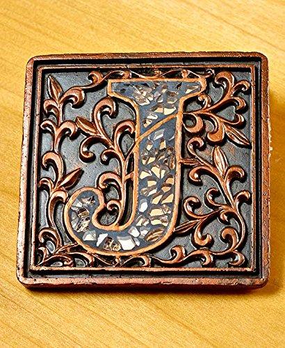 Mosaic Monogram Coaster Set of 5-Pc letter J
