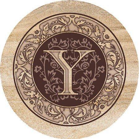 Thirstystone TSMY Thirstystone 4 piece Coaster Set Monogram Y
