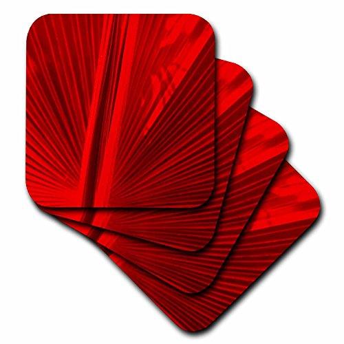 Florene Fan in Red Ceramic Tile Coaster Set of 8
