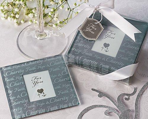 Artisano Designs Faith Hope Charity Photo Coasters Set of 4