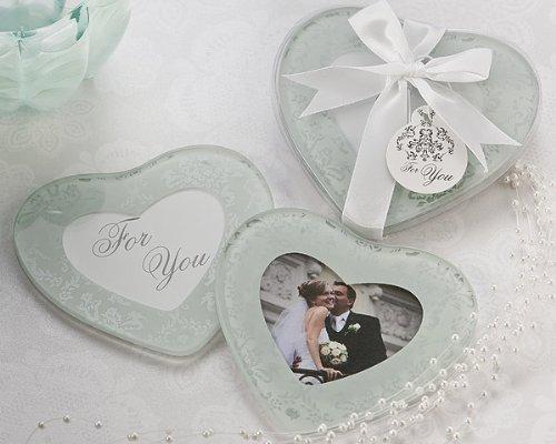 Artisano Designs Heartfelt Memories Frosted Heart Photo Coasters Set of 2