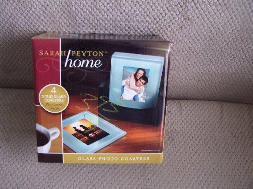 Sarah Peyton Home Glass Photo Coasters set of 4