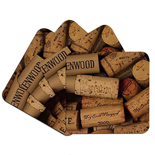 Wine Cork Photo Coaster Set