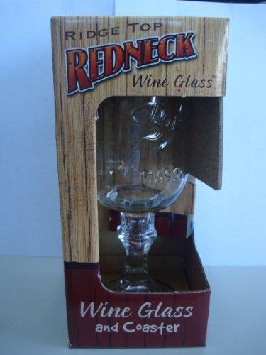 Enginenuity Kountry Krystal Wine Glass with Coaster