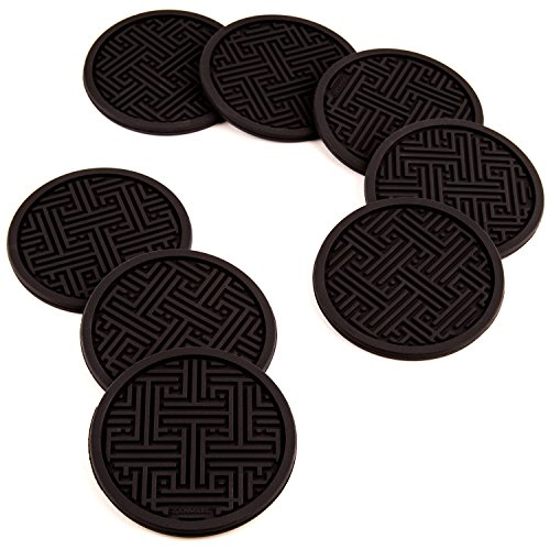 Zenware Non Slip Silicone Drink Coaster Set – Set of 8