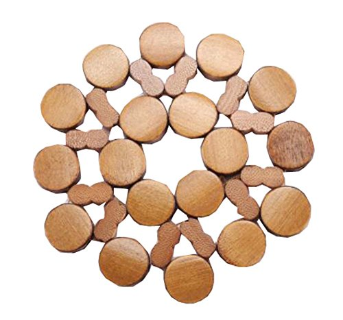 6 Sets Thicken Bamboo Drink Coasters Wooden Placemats for Kitchen Table4x 4