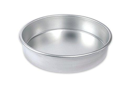 USA Pan Bare Aluminum Bakeware 1070LC-BB 9 Round Cake Baking Pan Warp-Resistant Rust-Proof Bakeware