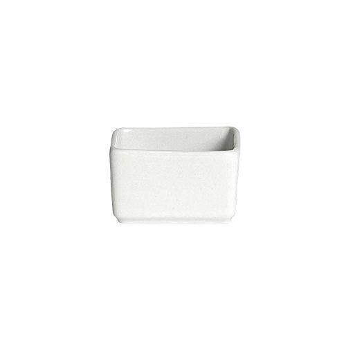 Varick 6900E422 Cafe Porcelain 225 Oz Square Ramekin - 36  CS