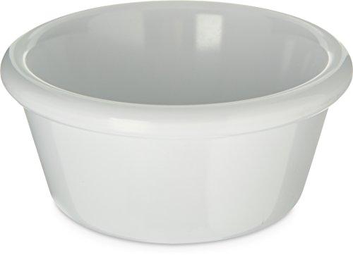 Carlisle S28602 Melamine Smooth Ramekin 6 oz Capacity White Case of 48