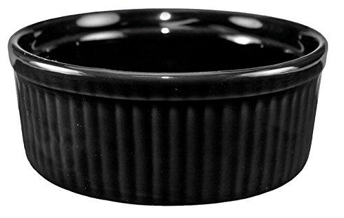 International Tableware Ceramic Fluted Ramekin 6 oz Black