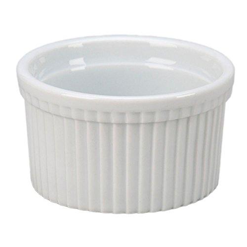 Vertex China RMK-6-P Market Buffet Ramekin Fluted 3-38 6 oz Porcelain White Pack of 36
