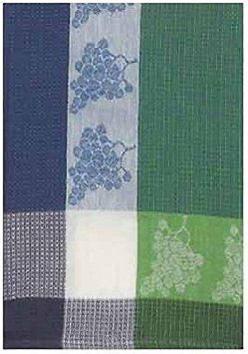 100 Cotton Green Blue 20x28 Dish Towel Set of 6 - Grapes Violet