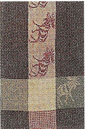 100 Cotton Green Brown 20x28 Dish Towel Set of 6 - Moose Avocado