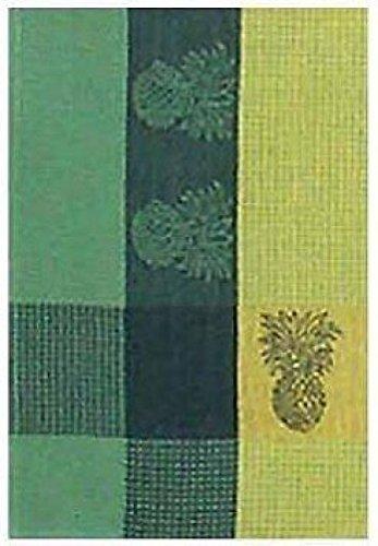 100 Cotton Green Yellow 20x28 Dish Towel Set of 6 - Pineapple Yellow