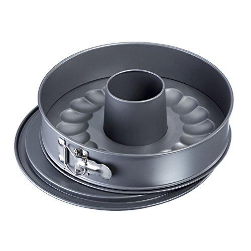 Westmark 33672260 Nonstick Springform Pan Set with Leak Proof 2 Bases 10 Gray
