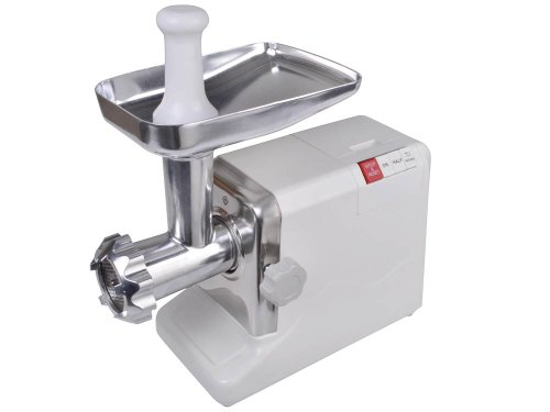 TMS Electric 26 HP 2000 Watt Industrial Meat Grinder Butcher Shop 3 Cutting Blades White