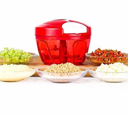 Tenta Kitchen 485ml Manual Food ChopperMeat GrinderVegetable SlicerShredderGrinder