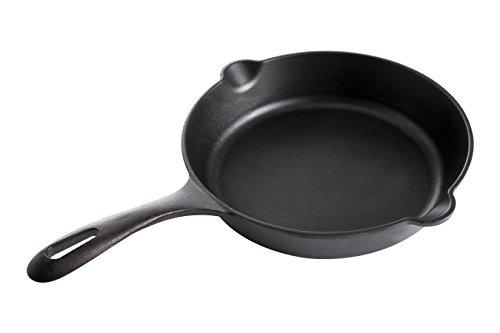 Victoria Cast Iron 10 Skillet Frypan Seasoned Longer Handle Medium 10 inch