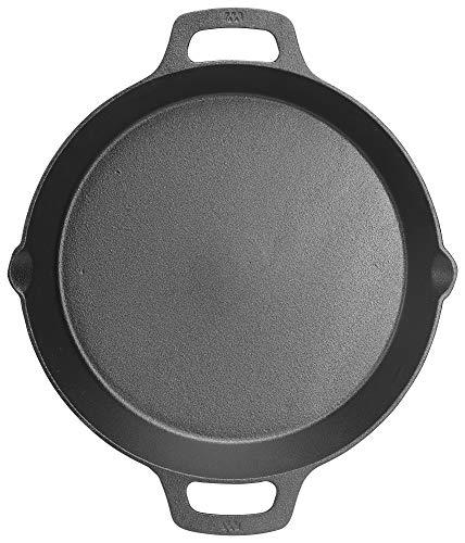 WINCO CASD-12 Cast Iron Skillet Black
