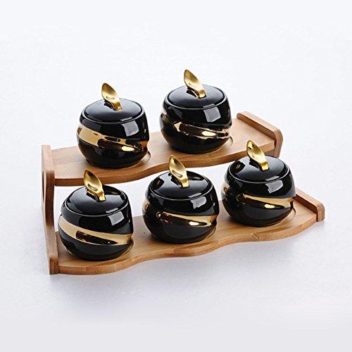 ceramic Spice jar set creative spice jars seasoning box salt shaker kitchen suppliesCovered condiment bottles for simple