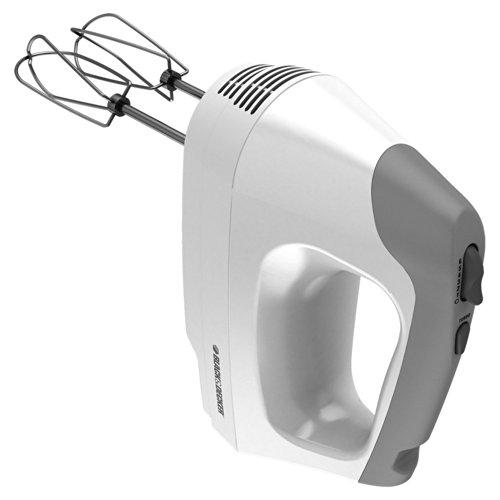 Black & Decker Mx3000w 250-watt Hand Mixer, White/grey