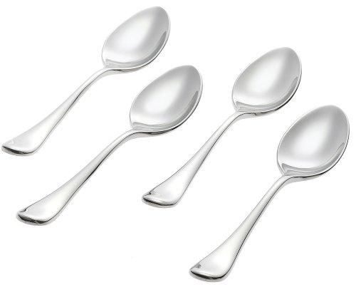 Ginkgo International Firenze Stainless Steel Demitasse Spoons Set of 4