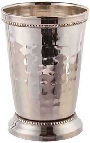 Elegance 12 oz Hammered Mint Julep Cup Large Silver