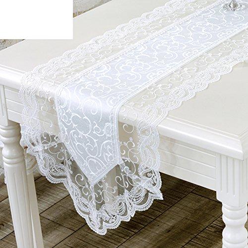 TRE European-style waterproof white lace tablecloth the Korean table clothLace table cloth-A 40x75cm16x30inch