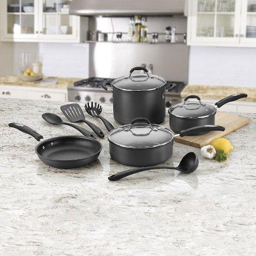 Cuisinart 11 Piece Hard-anodized Nonstick Cookware Set