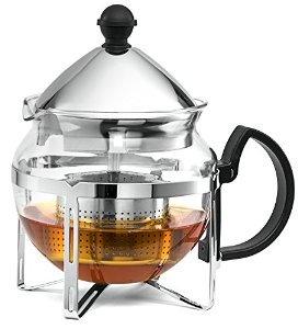 Chef's Star Functional Infuser Tea Maker - Premium Stainless Steel Tea Infuser - Heat Resistant Glass