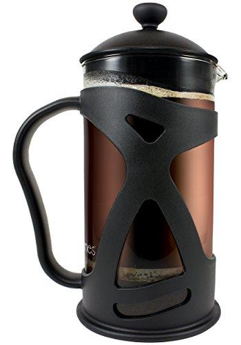 Kona French Press Coffee Tea & Espresso Maker, Black 34oz Teapot ~ Best Present Idea For Gifts