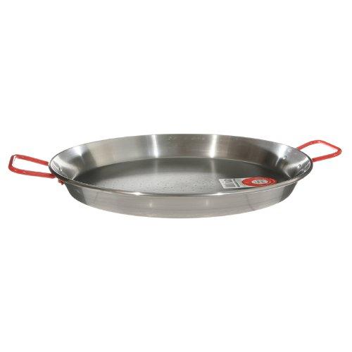 Garcima 15-inch Carbon Steel Paella Pan, 38cm