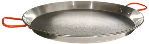 Garcima 24-inch Carbon Steel Paella Pan, 60cm