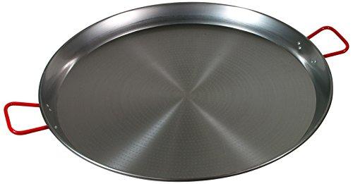 "La Paella 32"" Carbon Steel Paella Pan, Large, Silver"