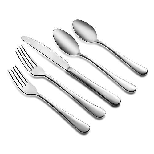 20-Piece Silverware Flatware Cutlery Set Stainless Steel Eating Utensils Tableware Set for 4 Include KnifeForkSpoon Mirror Polished Dishwasher Safe