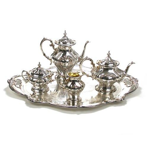 Chantilly by Gorham Silverplate 5-PC Tea Coffee Service