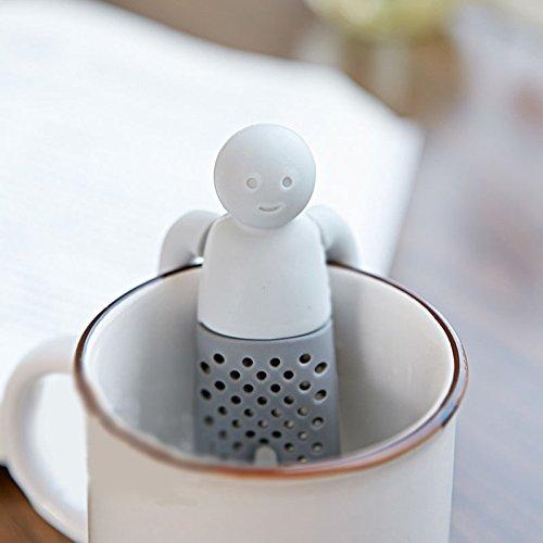 Mr Teapot - Tea Strainer Interesting Life Partner Cute Mr Teapot Silicone Tea Infuser Filter Teapot for Tea Coffee Filter Drinkware - Mrs Teaport