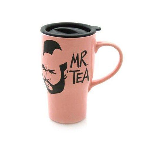Pink Mr Tea Travel Mug - Handmade in the USA