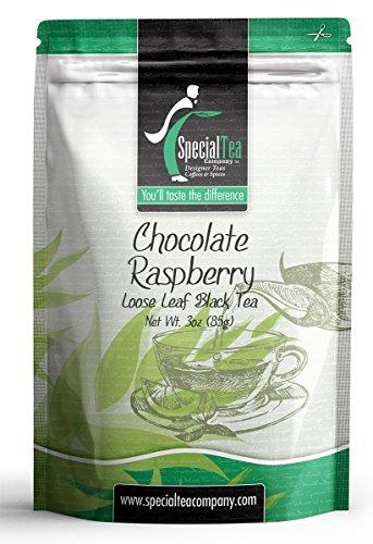 Special Tea Chocolate Raspberry Loose Leaf Black Tea 3 Ounce