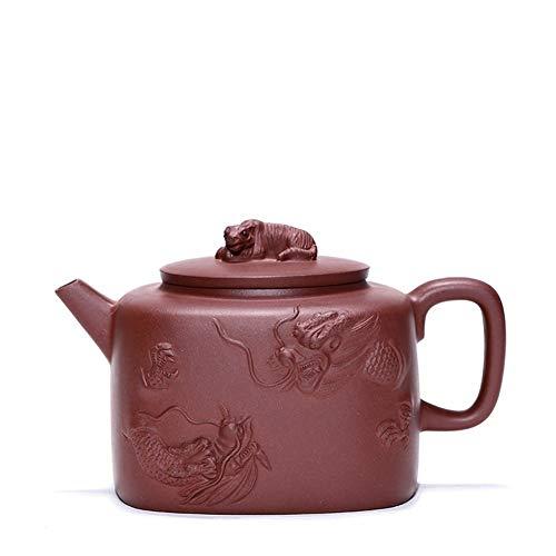 Elegdy Tea Maker Pot Crouching Tiger Hidden Dragon Yixing Teapot Ore Bottom Slot Of Pure Handmade Famous Teapot Color  Bottom clearance Size  One size