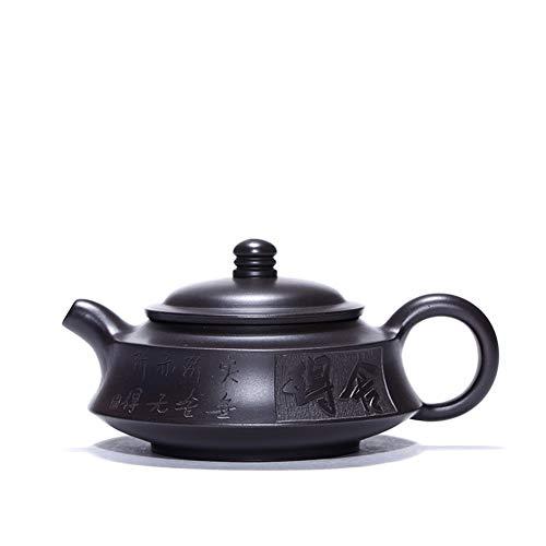 Teapots Tea Maker Pot Heini willing Zhoupan Yi Xing teapot famous handmade teapot travel tea MDYHJDHYQ Color  Black mud