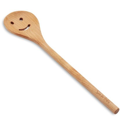 Sur La Table Smiley-Face Beechwood Slotted Spoon GB-3