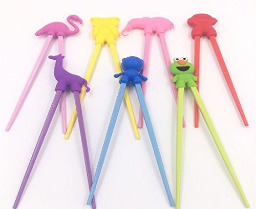 (set of 7)Lovely animals serise Training Chopsticks Utensil Set For Kids and AdultsThe elephant owl swan frog flamingo giraffe monkey,Training Chop Sticks Chopstick Set
