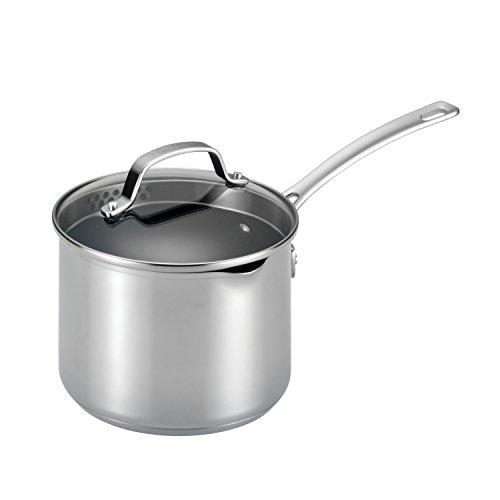 Circulon 77882 Genesis Stainless Steel Sauce PanSaucepan with Straining and Lid 3 Quart